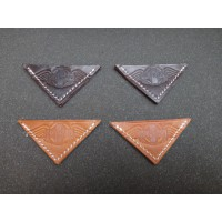 AB008A	LEATHER BONNET CORNER D.BROWN BIG WITH IMPRINT