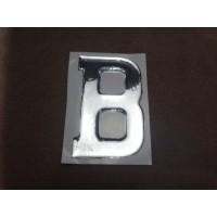 B0071BELGIAN B stick on chrome/plastic 3D