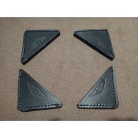AB011A LEATHER BONNET CORNER BLACK AB0011B BROWN