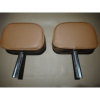 T0149G	HEADREST SINGLE PIN SET LIGHT BROWN