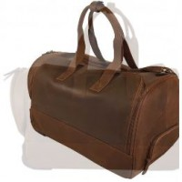 AB065	MORGAN TRAVEL BAG DARK BROWN  LARGE