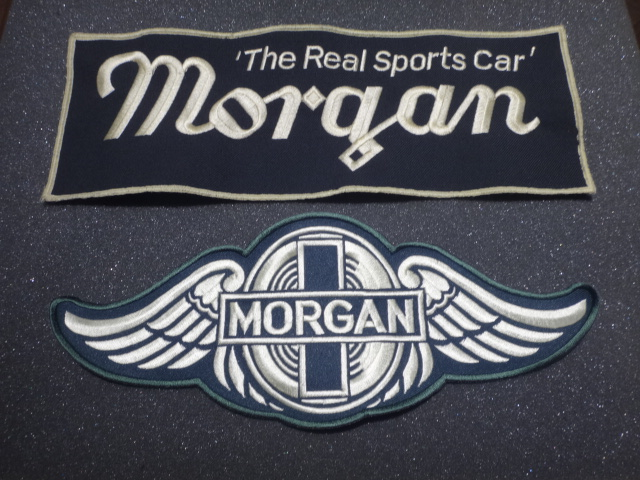 A0084 WOVEN BIG MORGAN WINGS GREEN  & A0085 WOVEN BIG MORGAN THE REAL SPORTS CAR