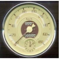 I0080 Speedometer Cream Face Instrument
