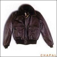 A0953 Chapal Model Usaaf Black Sheepskin Collar Removable