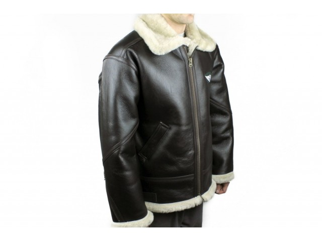 A0460 Morgan Leather / Sheepskin Flying Jacket