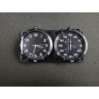 IR174G	SWISS MADE TWIN DASHBOARD RALLY STOPWATCH & CLOCK BLACK QUARTZ